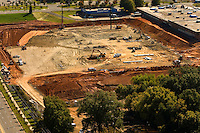 Aerial photo of construction at Charlotte Douglas International Airport, taken October 2008.