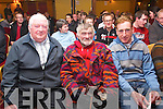 Iconic cyclists Paudie Fitzgerald, Mick 'The Ironman' Murphy both Ras winners and Sean Kelly at the launch of the Kerry Cycling Mentoring programme. .