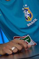 ATENÇÃO EDITOR FOTO EMBARGADA PARA VEÍCULOS INTERNACIONAIS - SAO PAULO, SP, 20 DE NOVEMBRO DE 2012 – TREINO SELEÇÃO BRASILEIRA:  durante treino da Seleção Brasileira na manhã desta terça feira (20) no CT Joaquim Grava em São Paulo. A Seleção se prepara para o jogo de volta contra a Argentina, válido pelo Superclássico  das Américas, que acontecerá na próxima quarta feira (21), no estádio La Bombonera em Buenos Aires.  FOTO: LEVI BIANCO - BRAZIL PHOTO PRESS