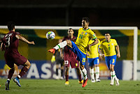 13th November 2020; Morumbi Stadium, Sao Paulo, Sao Paulo, Brazil; World Cup 2022 qualifiers; Brazil versus Venezuela;  Roberto Firmino of Brazil lifts the pass over Osorio of Venuzuela
