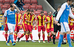 Partick Thistle v St Johnstone…28.10.17…  Firhill…  SPFL<br />Miles Storey celebrates his goal<br />Picture by Graeme Hart. <br />Copyright Perthshire Picture Agency<br />Tel: 01738 623350  Mobile: 07990 594431