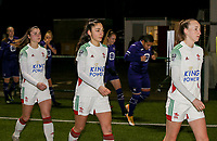 Auke Swevers(4) of OHL, Amber Tysiak (3) of OHL and Sari Kees (2) of OHL enter the pitch at the start of a female soccer game between Oud Heverlee Leuven and RSC Anderlecht on the 12 th matchday of the 2020 - 2021 season of Belgian Womens Super League , sunday 31 st of January 2021  in Heverlee , Belgium . PHOTO SPORTPIX.BE | SPP | SEVIL OKTEM
