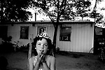 A young girl dreams of becoming a summer festival queen like her older sister, Conesville, 2003