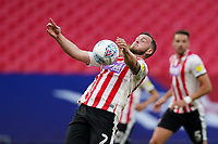 Pierce Sweeney of Exeter City during the Sky Bet League 2 PLAY-OFF Final match between Exeter City and Northampton Town at Wembley Stadium, London, England on 29 June 2020. Photo by Andy Rowland.
