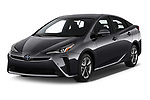 2019 Toyota Prius XLE 5 Door Hatchback angular front stock photos of front three quarter view