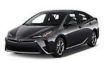 2019 Toyota Prius XLE 5 Door Hatchback angular front stock photos of front three quarter view