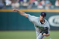 Gwinnett Stripers starting pitcher Kyle Wright (30) delivers a pitch to the plate against the Charlotte Knights at Truist Field on July 15, 2021 in Charlotte, North Carolina. (Brian Westerholt/Four Seam Images)