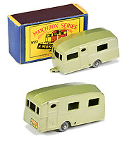 BNPS.co.uk (01202 558833)<br /> Pic: Vectis/BNPS<br /> <br /> Pictured: Matchbox Regular Wheels 23b Berkeley Cavalier Caravan<br /> <br /> One man's vast collection of model cars amassed over a lifetime has sold at auction for an incredible £250,000.<br /> <br /> Simon Hope, 68, has been collecting matchbox models since he was a small child and has bought over 4,000 over the past six decades.<br /> <br /> His hobby has cost him thousands of pounds and at and engulfed a huge slice of his life but he has now decided to part with the toys