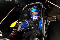 Oct. 31, 2008; Las Vegas, NV, USA: NHRA funny car driver Jack Beckman during qualifying for the Las Vegas Nationals at The Strip in Las Vegas. Mandatory Credit: Mark J. Rebilas-