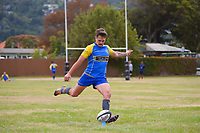 Action from the club preseason rugby match between Avalon Wolves and Clive at Naenae College in Lower Hutt, New Zealand on Saturday, 20 March 2020. Photo: Dave Lintott / lintottphoto.co.nz