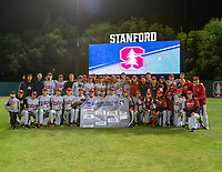 STANFORD, CA - JUNE 7: Team photo after a game between UC Irvine and Stanford Baseball at Sunken Diamond on June 7, 2021 in Stanford, California.