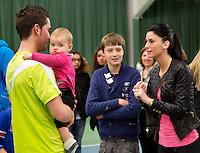 19-01-13, Tennis, Rotterdam, Wildcard for qualification ABNAMROWTT, Jesse Timmermans met baby