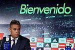 Mariano Diaz during his Official presentation of Mariano Diaz at Estadio Santiago Bernabeu in Madrid, Spain. August 31, 2018. (ALTERPHOTOS/A. Perez Meca)