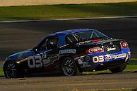 #03 CJ Wilson Racing Mazda MX-5 of Jason Saini & Chad McCumbee (ST class)