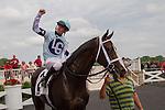 JUL 12,2014:Divine Oath,ridden by Florent Geroux,wins the American Derby at Arlington Park in Arlington Heights,IL. Kazushi Ishida/ESW/CSM