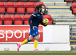 St Johnstone v Brechin City…10.10.20   McDiarmid Park  Betfred Cup<br />Stevie May comes on the pitch at full time to retrieve the match ball after scoring a hat trick<br />Picture by Graeme Hart.<br />Copyright Perthshire Picture Agency<br />Tel: 01738 623350  Mobile: 07990 594431