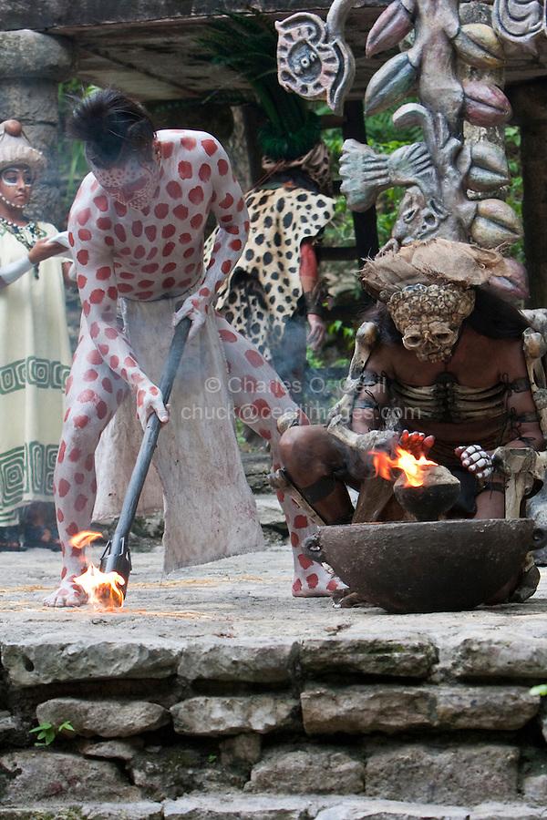 Mayan Dancers, Xcaret, Riviera Maya, Yucatan, Mexico.