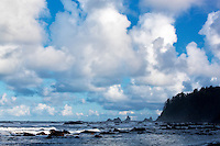 Clouds at Rialto Beach. Olympic National Park, Washington