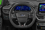 Car pictures of steering wheel view of a 2021 Ford Puma ST 5 Door SUV Steering Wheel
