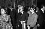 CARLO GIULIO ARGAN IN CAMPIDOGLIO RICEVIMENTO DEL PRINCIPE BERTIL DI SVEZIA  ROMA 1976