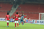 Indonesia vs Singapore during the AFF Suzuki Cup 2012 Group B match on November 28, 2012 at the Bukit Jalil National Stadium in Kuala Lumpur, Malaysia. Photo by World Sport Group
