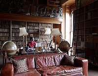 Torquhil Campbell, 13th Duke of Argyll, in the Brown Library, now his study