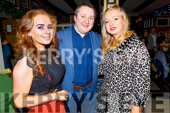 Mercy Mounthawk staff, Siobhan Stokes, Will Nolan and Denise Buckley enjoying their Christmas party in the Brogue Inn on Friday.