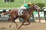May 9 2015: Madefromlucky with Javier Castellano win the 61st running of the Grade II Peter Pan Stakes for 3-year olds going 1 1/8 mile at Belmont Park.  Trainer Todd Pletcher. Owner Cheyenne Stables & Nichol Mac. Sue Kawczynski/ESW/CSM