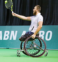 Rotterdam, The Netherlands, 14 Februari 2019, ABNAMRO World Tennis Tournament, Ahoy, Wheelchair final doubles, Nicolas Peifer (FRA), <br /> Photo: www.tennisimages.com/Henk Koster