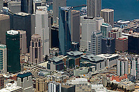 aerial photograph Millenium tower, Pacific Gas and Electric building, 50 Fremont Center, Transbay skyscrapers San Francisco