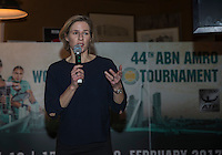 Rotterdam, Netherlands, Januari 12, 2017, ABNAMROWTT pressconference, Ahoy director Jolanda Jansen anouncing the new activities for the coming tournament <br /> Photo: Tennisimages/Henk Koster
