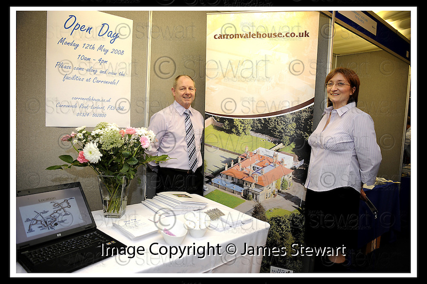 01/05/2008   Copyright Pic: James Stewart.File Name : 53_business_fair.FALKIRK BUSINESS FAIR 2008.CARRONVALE HOUSE.James Stewart Photo Agency 19 Carronlea Drive, Falkirk. FK2 8DN      Vat Reg No. 607 6932 25.Studio      : +44 (0)1324 611191 .Mobile      : +44 (0)7721 416997.E-mail  :  jim@jspa.co.uk.If you require further information then contact Jim Stewart on any of the numbers above........