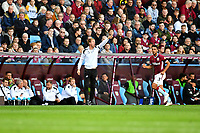 Graham Potter Manager of Swansea City shouts instructions to his team from the dug-out during the Sky Bet Championship match between Aston Villa and Swansea City at Villa Park in Birmingham, England, UK.  Saturday 20 October  2018