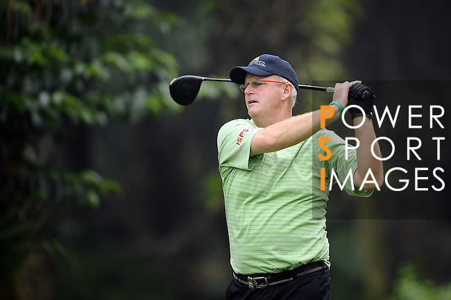 TAIPEI, TAIWAN - NOVEMBER 18:  Sandy Lyle of Scotland tees off on the 16th hole during day one of the Fubon Senior Open at Miramar Golf & Country Club on November 18, 2011 in Taipei, Taiwan. Photo by Victor Fraile / The Power of Sport Images