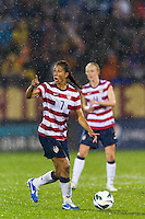 Shannon Boxx (7) of the United States (USA). The United States (USA) and Germany (GER) played to a 2-2 tie during an international friendly at Rentschler Field in East Hartford, CT, on October 23, 2012.