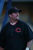 Sean Casey of the Cincinnati Reds during a 2003 season MLB game at Dodger Stadium in Los Angeles, California. (Larry Goren/Four Seam Images)