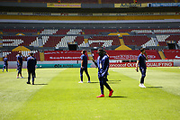 GUADALAJARA, MEXICO - MARCH 18: USA players inspect the field before a game between Costa Rica and USMNT U-23 at Estadio Jalisco on March 18, 2021 in Guadalajara, Mexico.