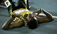 CALI - COLOMBIA - 17-07-2015: Christopher Taylor de Jamaica, gana la prueba de los 400 metros en el estadio Pascual Guerrero sede, sede de IAAF Campeonatos Mundiales de la Juventud Cali 2015.  / Christopher Taylor of Jamaica, wins the test of 400 meters in the Pascual Guerrero home of the IAAF World Youth Championships Cali 2015. Photos: VizzorImage / Luis Ramirez / Staff.