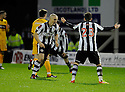 ST MIRREN'S JIM GOODWIN CELEBRATES AFTER HE SCORES ST MIRREN'S EQUALISER...17/12/2011 sct_jsp021_motherwell_v_st_mirren     .Copyright  Pic : James Stewart.James Stewart Photography 19 Carronlea Drive, Falkirk. FK2 8DN      Vat Reg No. 607 6932 25.Telephone      : +44 (0)1324 570291 .Mobile              : +44 (0)7721 416997.E-mail  :  jim@jspa.co.uk.If you require further information then contact Jim Stewart on any of the numbers above.........