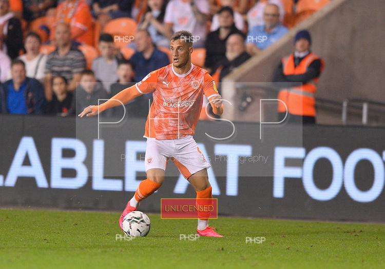24/08/2021 Carabao Cup 2nd Round Blackpool v Sunderland <br /> <br /> Jerry Yates, Blackpool FC