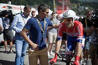 Tom Dumoulin (NLD/Giant-Alpecin) after finishing<br /> <br /> Stage 18 (ITT) - Sallanches › Megève (17km)<br /> 103rd Tour de France 2016