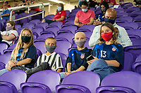 ORLANDO CITY, FL - FEBRUARY 18: USA supporters during a game between Canada and USWNT at Exploria stadium on February 18, 2021 in Orlando City, Florida.