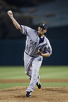 Freddy Garcia of the Seattle Mariners pitches during a 2002 MLB season game against the Los Angeles Angels at Angel Stadium, in Los Angeles, California. (Larry Goren/Four Seam Images)