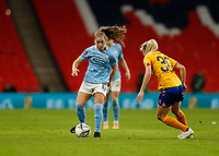 1st November 2020; Wembley Stadium, London, England; Womens FA Cup Final Football, Everton Womens versus Manchester City Womens; Jess Park of Manchester City Women is marked by Poppy Pattinson of Everton Women