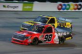 NASCAR Camping World Truck Series<br /> M&M's 200 presented by Casey's General Store<br /> Iowa Speedway, Newton, IA USA<br /> Friday 23 June 2017<br /> Grant Enfinger, Ride TV Toyota Tundra, Cody Coughlin, JEGS Toyota Tundra<br /> World Copyright: Brett Moist<br /> LAT Images