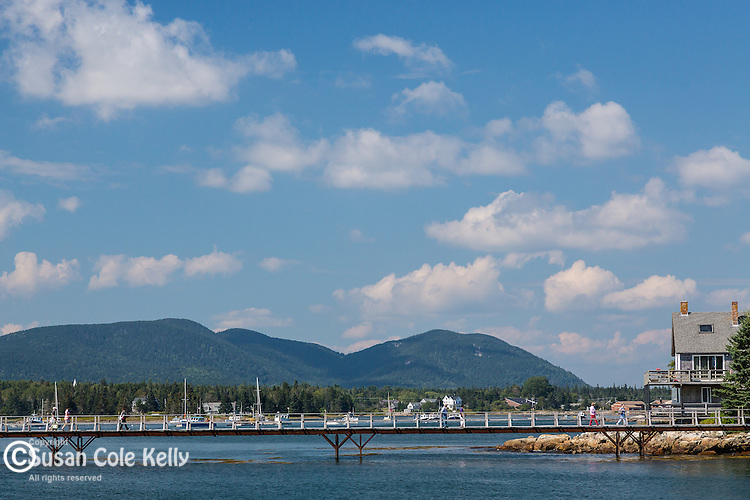 Bernard and Mansett mountains seen from Bass Harbor, Maine, USA