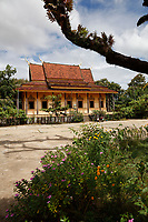 OLd wood pagoda<br />  near Kratie, Cambodia,<br /> during water festival<br /> October 2020.