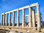 Temple of Poseidon at Cape Sounion near Athens, Greece. c 440 B.C.