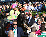 June 6 2015: Slumber (GB) with Irad Ortiz Jr.win the 114th running of the Grade I Manhattan for 4-year olds & up, going 1 1/4 mile on the turf at Belmont Park.  Trainer Chad C. Brown. Owner Michael Dubb, Sheep Pond Partners and Bethlehem Stables. Sue Kawczynski/ESW/CSM