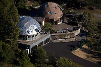aerial photograph geodesic dome homes, Sonoma mountain, Petaluma, Sonoma county, California